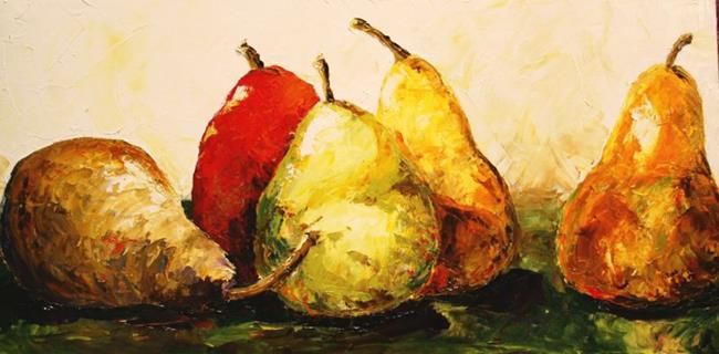 Art: Pears Five by Artist Laurie Justus Pace