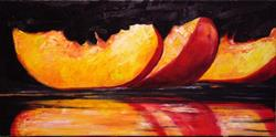 Art: Sliced Peaches by Artist Laurie Justus Pace