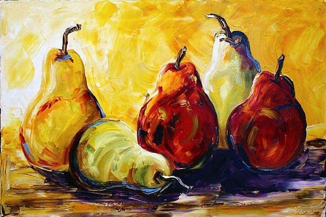 Art: pear six by Artist Laurie Justus Pace