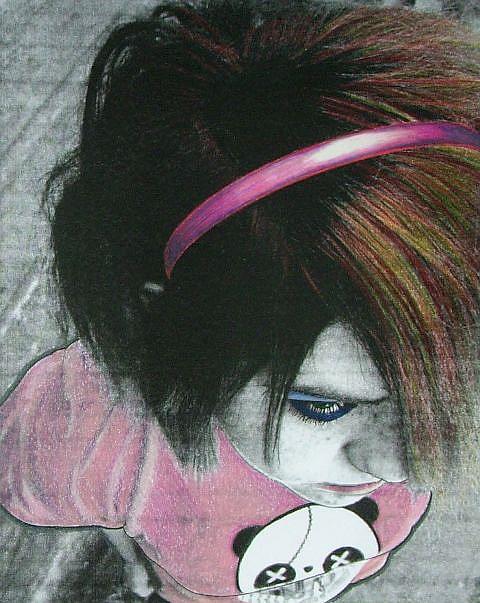 Art: NICOLE ON EDGE by Artist Sherry Key