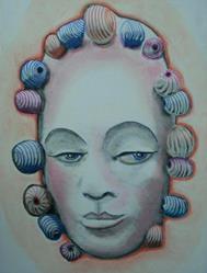 Art: CANDY MINT MASK by Artist Sherry Key