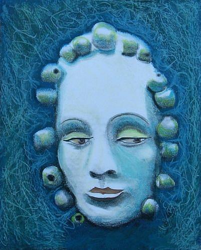 Art: MASK EMERGING by Artist Sherry Key