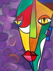 Art: Lilac - Faces 9 by Artist Thomas C. Fedro