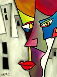 Art: Faces 7 by Artist Thomas C. Fedro