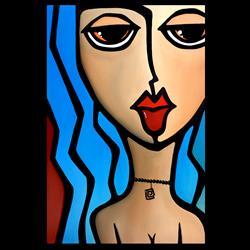 Art: Original Abstract Pop Art Cherish by Artist Thomas C. Fedro
