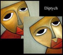 Art: Faces 83 by Artist Thomas C. Fedro