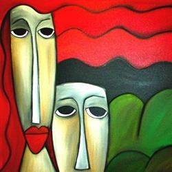 Art: Faces 106 by Artist Thomas C. Fedro