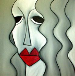 Art: Faces 107 by Artist Thomas C. Fedro