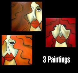 Art: Faces 109 by Artist Thomas C. Fedro