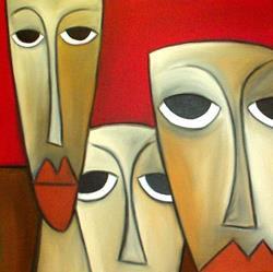Art: Faces 112 by Artist Thomas C. Fedro