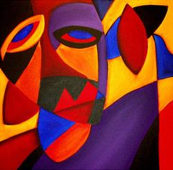 Art: Faces 115 by Artist Thomas C. Fedro