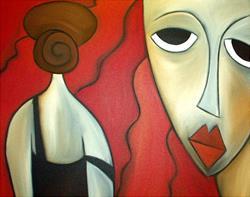 Art: Faces 116 by Artist Thomas C. Fedro