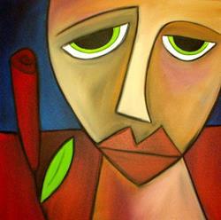 Art: Faces 117 by Artist Thomas C. Fedro