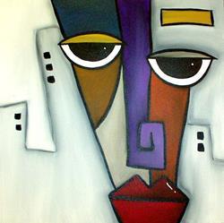 Art: Faces 119 by Artist Thomas C. Fedro