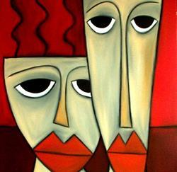 Art: Faces 120 by Artist Thomas C. Fedro