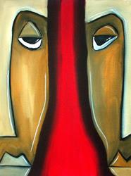 Art: Faces 270 by Artist Thomas C. Fedro
