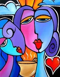 Art: Faces1102 2228 Start Me Up by Artist Thomas C. Fedro