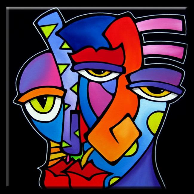 Faces1125 2424 A Moment Original Abstract Art - by Thomas C. Fedro ...