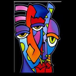 Art: Faces1131 4872 Original Abstract Art Imagination by Artist Thomas C. Fedro