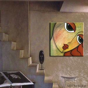 Detail Image for art Faces1140 2424 Original Abstract Art Painting Flawless