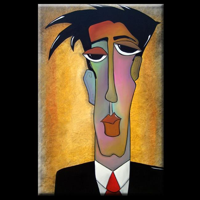 Art: Faces1143 2436 Original Abstract Art Painting Election by Artist Thomas C. Fedro