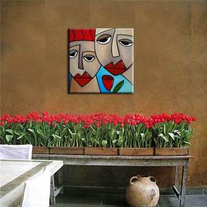 Detail Image for art Faces1147 1818 Original Abstract Art Painting Somehow