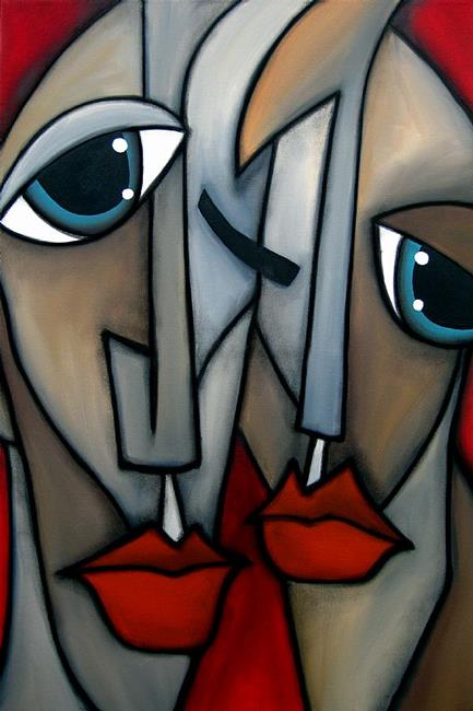 Art: Faces1184 2436 Original Abstract Art Painting Like Minded by Artist Thomas C. Fedro