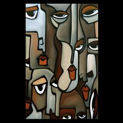 Art: abstract 421 2436 Original Abstract Art Anxiety 2 by Artist Thomas C. Fedro