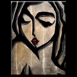 Art: Faces1198 3040 GW Original Abstract Art Painting Still by Artist Thomas C. Fedro