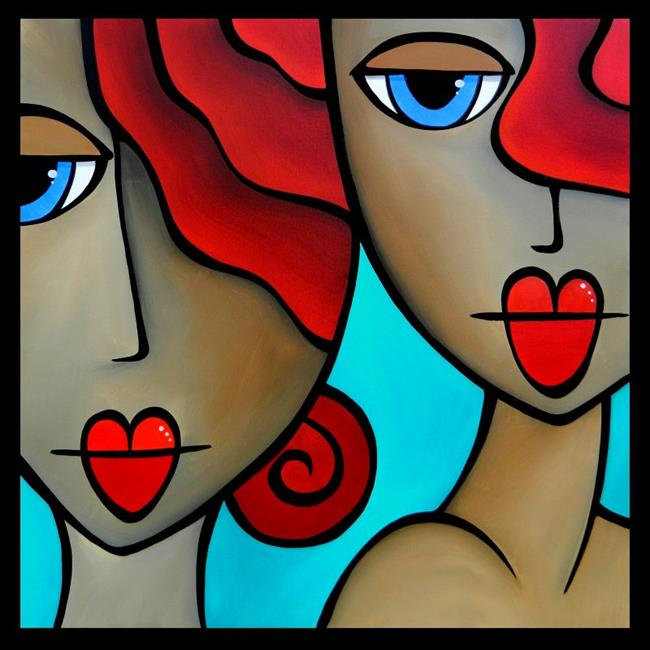 Faces1215 3030 Original Abstract Art Painting Sister Act - by ...