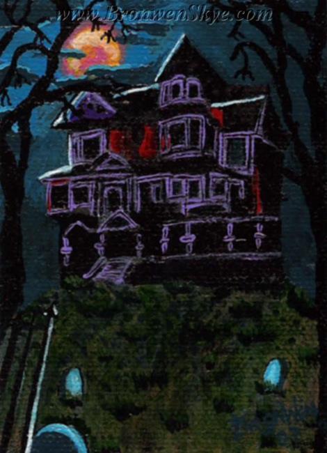 Art: Haunted Mansion by Artist Bronwen Skye