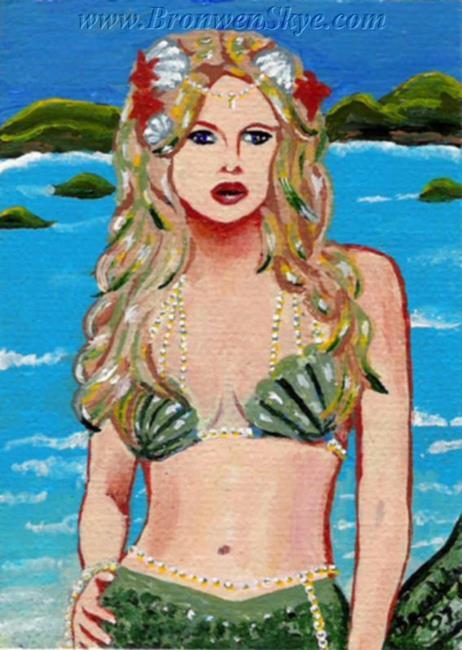 Art: Mermaid in Pearls by Artist Bronwen Skye