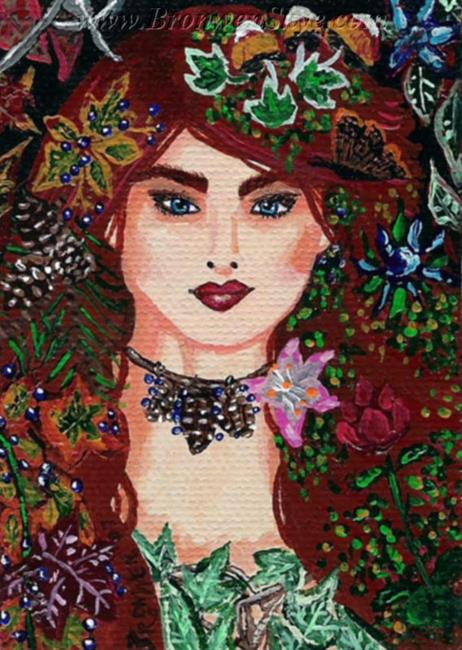 Art: Earth Mother Goddess by Artist Bronwen Skye