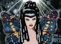 Art: Gothic Forest Miss by Artist Bronwen Skye
