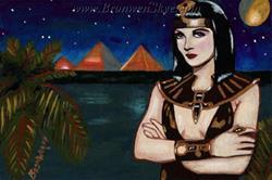 Art: Cleo on the Nile by Artist Bronwen Skye