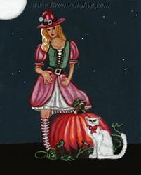 Art: Christmas Witch by Artist Bronwen Skye