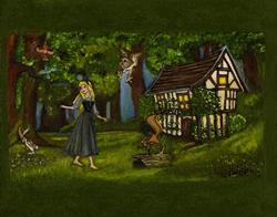 Art: Sleeping Beauty and Friends by Artist Bronwen Skye