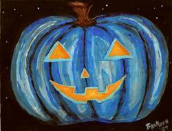 Art: Blue Jack O'Lantern by Artist Bronwen Skye