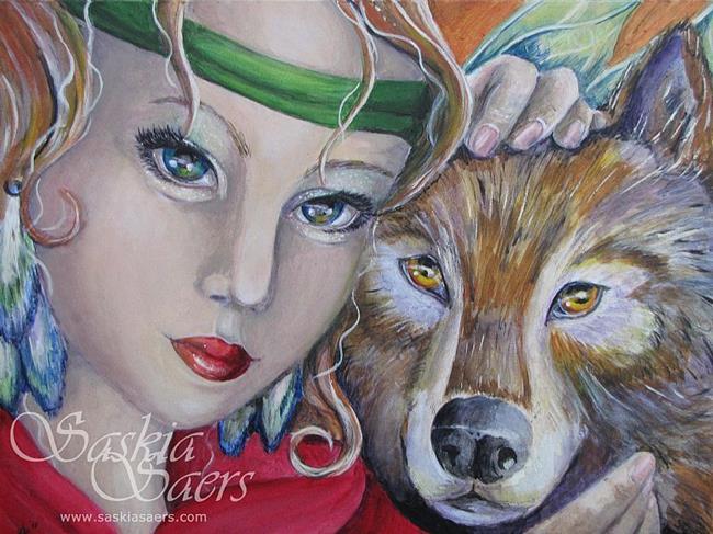 Art: Wolflind by Artist Saskia Franken-Saers