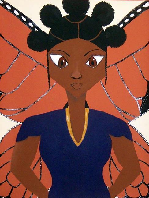 Art: Napptural Butterfly by Artist Shirley Inocenté