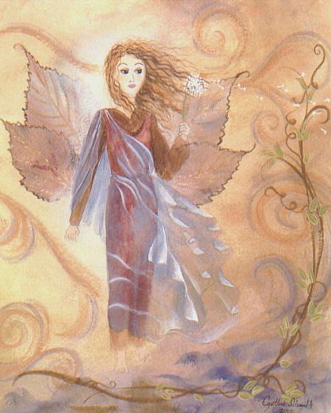 Art: Wind Fairy    by Artist Cynthia Schmidt