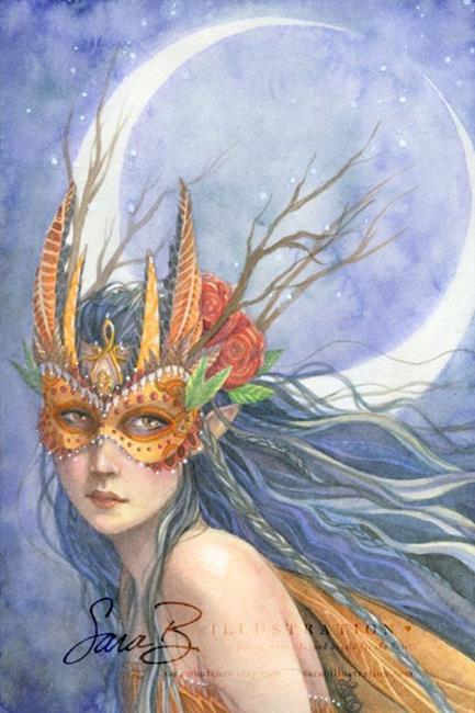 Art: Midnight Warrior by Artist Sara Burrier