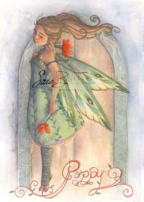 Art: Poppy by Artist Sara Burrier
