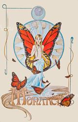 Art: Flight of the Monarch by Artist Saskia Franken-Saers