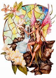 Art: Bird of Paradise by Artist Saskia Franken-Saers