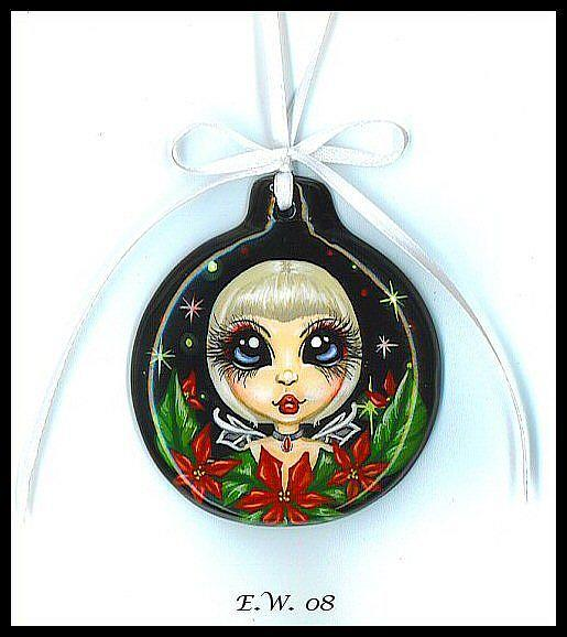 Art: Poinsettia Fairy Ornament by Artist Elaina Wagner