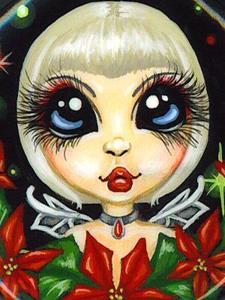 Detail Image for art Poinsettia Fairy Ornament