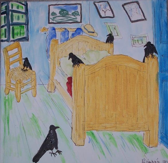 CROWS IN VAN GOGH\'S BEDROOM - by Nancy Denommee from Famous Artist ...