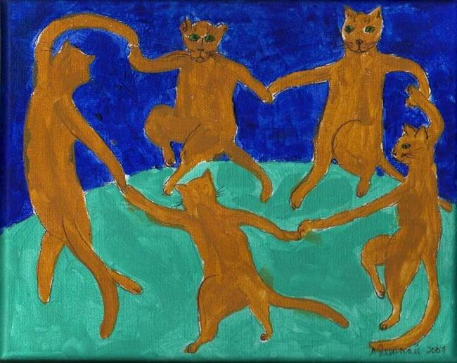 The Cat Dance ala Matisse - by Nancy Denommee from Famous Artist ...
