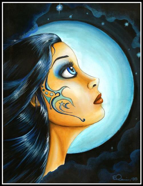 Art: Blue Moon Goddess by Artist Elaina Wagner
